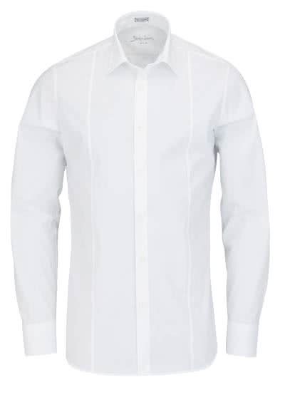 SIGNUM Slim Fit Hemd Langarm New Kent Kragen Stretch weiß - Hemden Meister