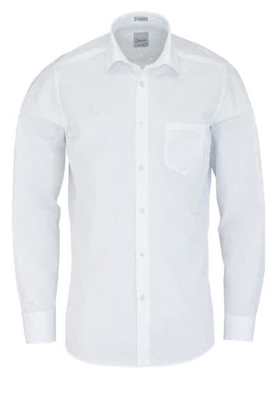 SIGNUM Modern Fit Hemd Langarm New Kent Kragen weiß - Hemden Meister