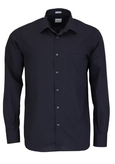 SIGNUM Modern Fit Hemd Langarm New Kent Kragen schwarz - Hemden Meister
