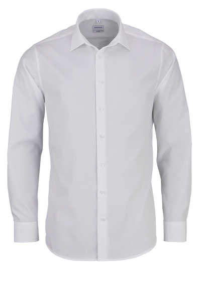 SEIDENSTICKER Tailored Hemd extra langer Arm Popeline weiß - Hemden Meister