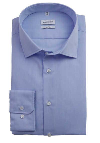 SEIDENSTICKER Tailored Hemd extra langer Arm Popeline hellblau - Hemden Meister