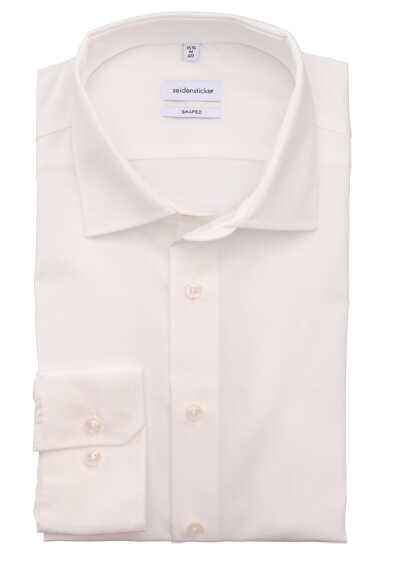 SEIDENSTICKER Tailored Hemd Langarm Basic Kent Kragen Popeline beige - Hemden Meister