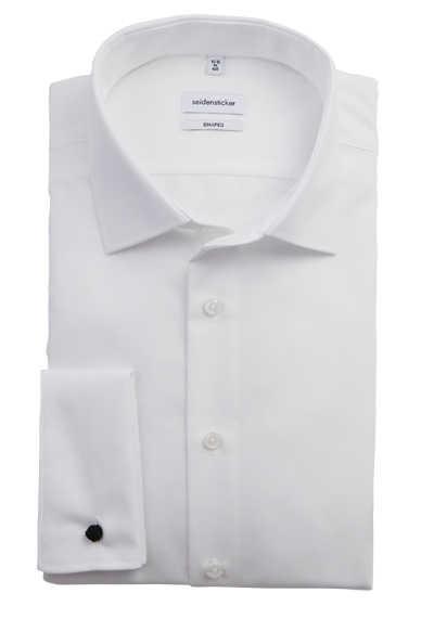 SEIDENSTICKER Tailored Hemd extra langer Arm Basic Kent Kragen weiß - Hemden Meister