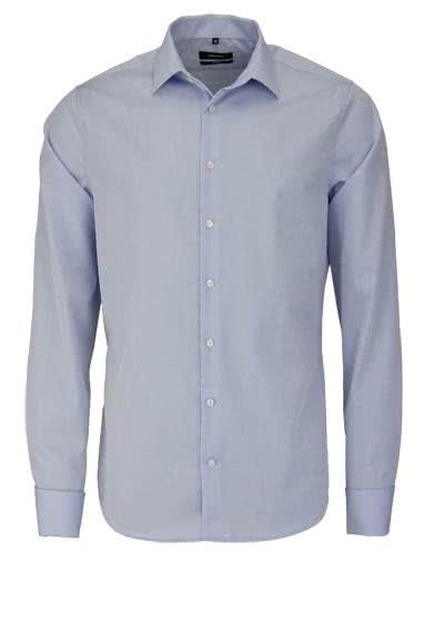 SEIDENSTICKER Tailored Hemd Langarm o. Manschettenknopf Popeline blau - Hemden Meister