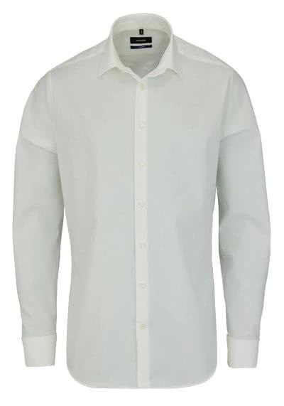 SEIDENSTICKER Tailored Hemd Langarm o. Manschettenknopf Popeline beige - Hemden Meister
