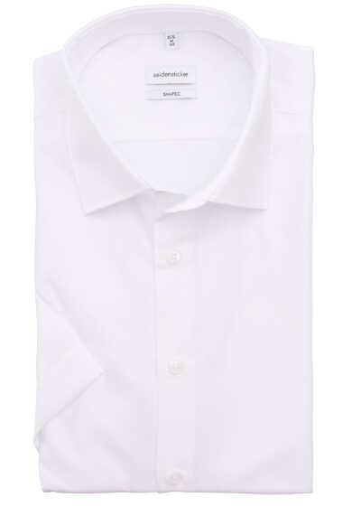 SEIDENSTICKER Tailored Halbarm Haifischkragen Popeline weiß - Hemden Meister