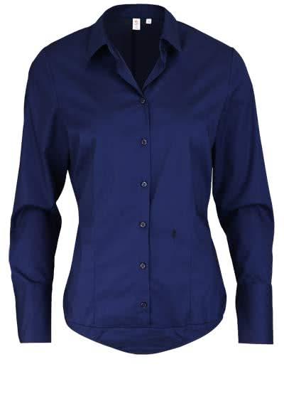 SEIDENSTICKER Slim Bodybluse Langarm Popeline Stretch nachtblau - Hemden Meister