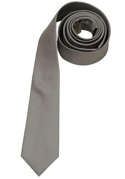SEIDENSTICKER Krawatte aus reiner Seide 6 cm breit hellgrau - Hemden Meister