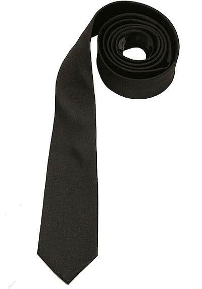 SEIDENSTICKER Krawatte aus reiner Seide 6 cm breit anthrazit - Hemden Meister