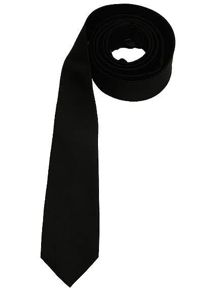 SEIDENSTICKER Krawatte aus reiner Seide 6 cm breit schwarz - Hemden Meister