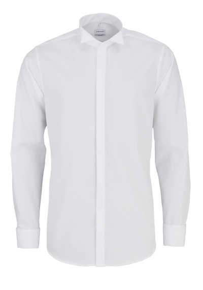 SEIDENSTICKER Tailored Galahemd Langarm ohne Manschettenknopf weiß - Hemden Meister