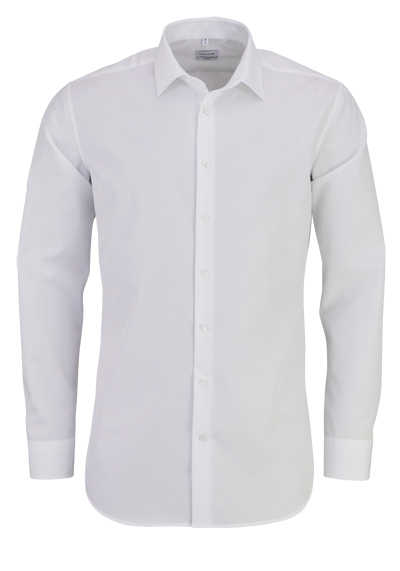 SEIDENSTICKER X-Slim Hemd extra langer Arm Fil a Fil weiß - Hemden Meister