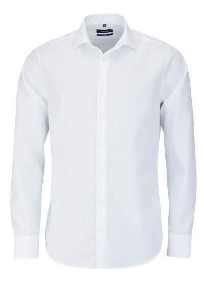 SEIDENSTICKER Tailored Hemd Langarm Haifischkragen Popeline weiß - Hemden Meister