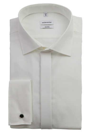 SEIDENSTICKER Tailored Galahemd Langarm ohne Manschettenknopf beige - Hemden Meister