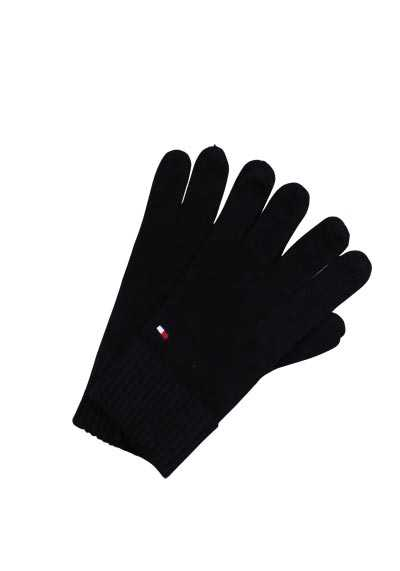 TOMMY HILFIGER Handschuhe Strick Baumwolle Kaschmir schwarz - Hemden Meister