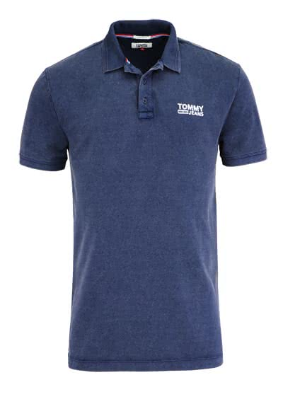 TOMMY JEANS Kurzarm Poloshirt geknöpfter Kragen dunkelblau - Hemden Meister