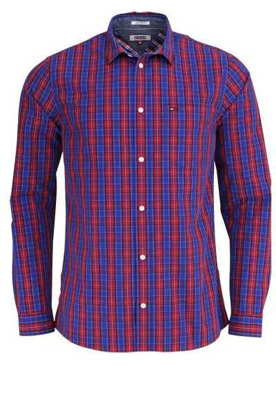 TOMMY HILFIGER Regular Fit Hemd New Kent Kragen Karo dunkelblau - Hemden Meister
