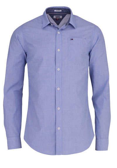 TOMMY JEANS Regular Fit Hemd Langarm Logo-Stick hellblau - Hemden Meister