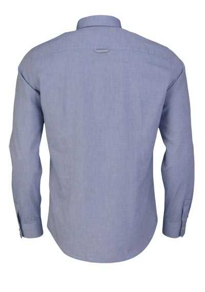 TOM TAILOR Hemd Langarm Button Down Kragen Baumwolle hellblau