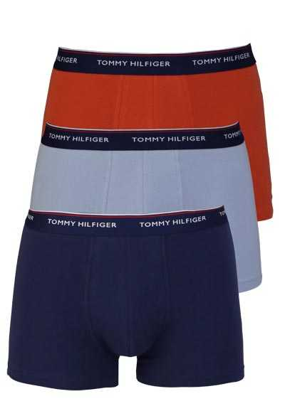 TOMMY HILFIGER Brief Pants Stretch 3er Pack dunkelblau/hellblau/orange