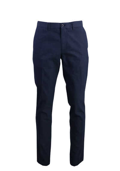 TOMMY HILFIGER Hose 5 Pocked Stretch Karo dunkelblau