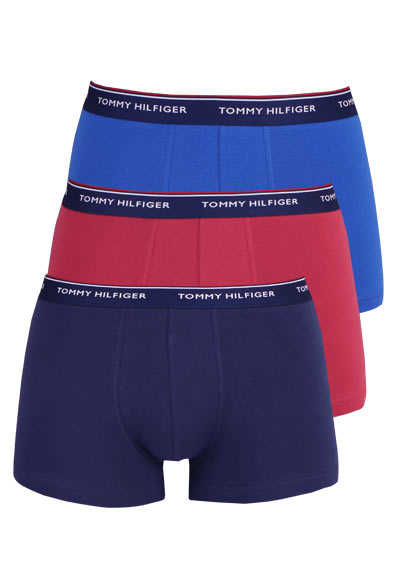 TOMMY HILFIGER Pants Stretch 3er Pack navy/rot/mittelblau