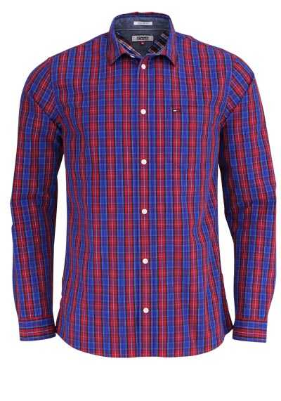 TOMMY HILFIGER Regular Fit Hemd New Kent Kragen Karo dunkelblau