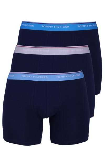 TOMMY HILFIGER Retroshorts Stretch 3er Pack nachtblau