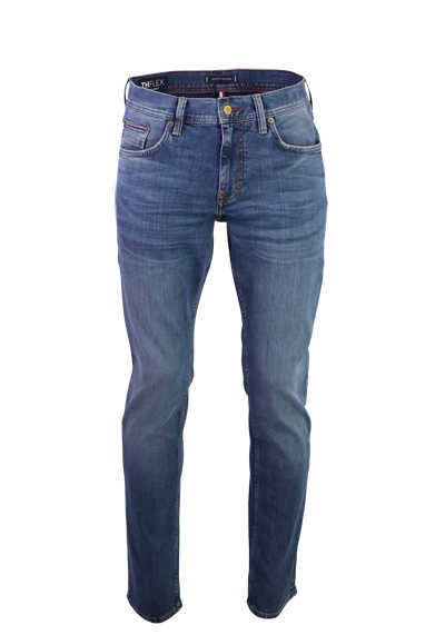 TOMMY HILFIGER Slim Fit Jeans Used 5 Pocket mittelblau