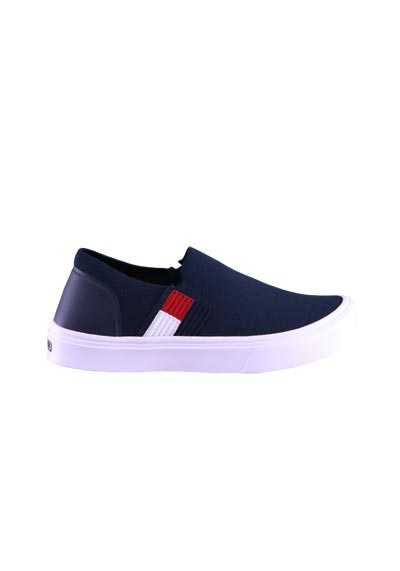 TOMMY HILFIGER Slipper Stretch Logo Detail dunkelblau