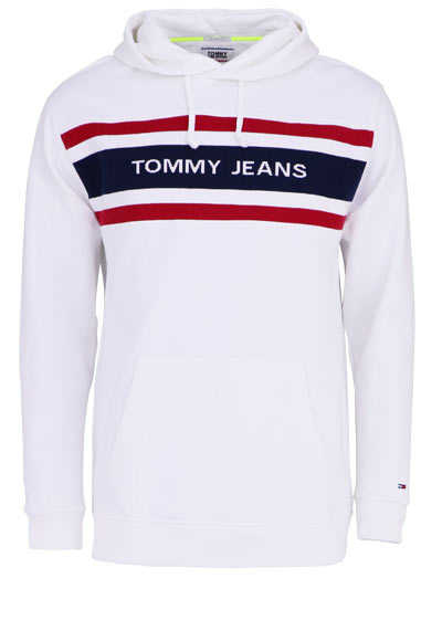 TOMMY JEANS Langarm Hoodie Kapuze Peach-Finish weiß