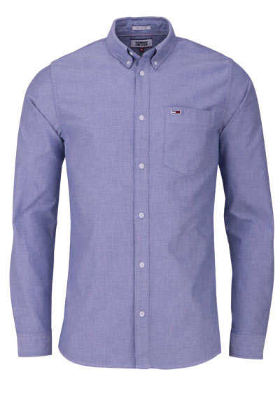 TOMMY JEANS Regular Fit Hemd Langarm Button Down hellblau