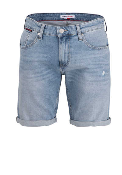 TOMMY JEANS Shorts RONNIE Button-Zipp-Verschluss 5-Pocket hellblau