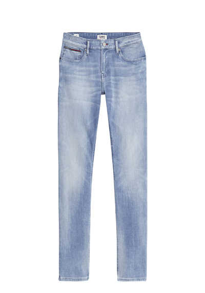 TOMMY JEANS Slim Fit Jeans SCANTON Used 5 Pocket Stretch mittelblau