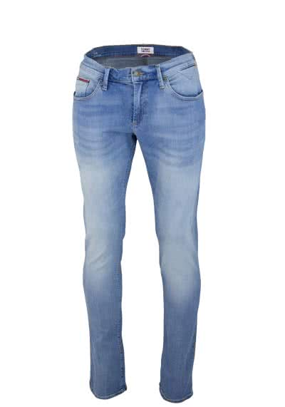 TOMMY JEANS Slim Fit Jeans SCANTON Used Destroy hellblau
