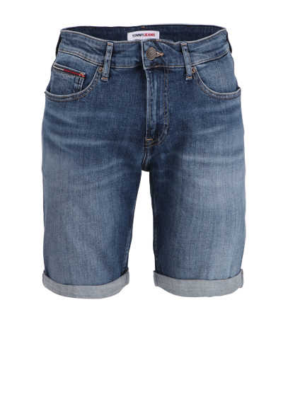 TOMMY JEANS Slim Fit Shorts SCANTON Button-Zipp-Verschluss mittelblau