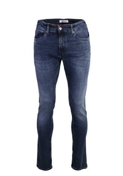 TOMMY JEANS Slim Herrenjeans SCANTON Premium Stretch dunkelblau