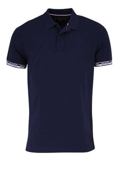 TOMMY HILFIGER Halbarm Poloshirt BADGE geknöpft navy - Hemden Meister
