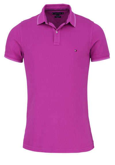 TOMMY HILFIGER Halbarm Poloshirt Polokragen geknöpft hibiskus - Hemden Meister