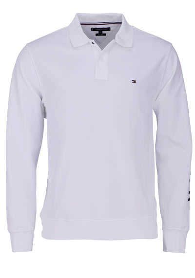 TOMMY HILFIGER Poloshirt Langarm mit geknöpften Kragen weiß - Hemden Meister