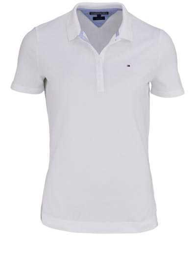 TOMMY HILFIGER Kurzarm Poloshirt Polokragen geknöpft weiß - Hemden Meister