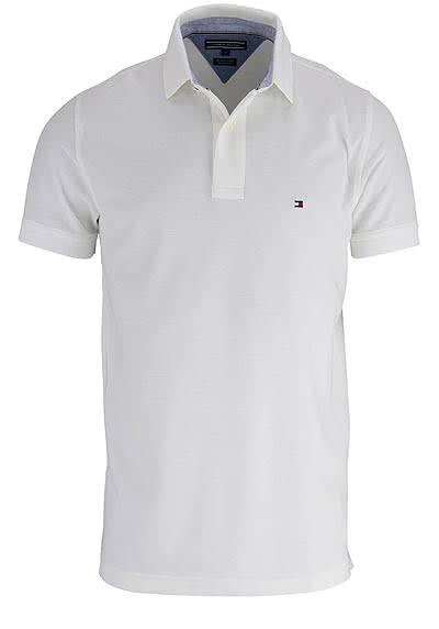 TOMMY HILFIGER Performance Poloshirt Halbarm Regular Fit weiß - Hemden Meister