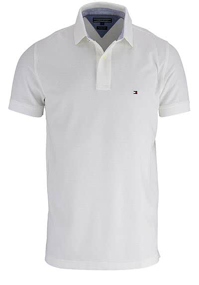 TOMMY HILFIGER Performance Poloshirt Halbarm Regular Fit weiß