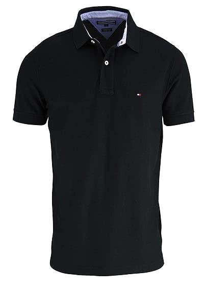TOMMY HILFIGER Performance Poloshirt Halbarm Regular Fit schwarz - Hemden Meister