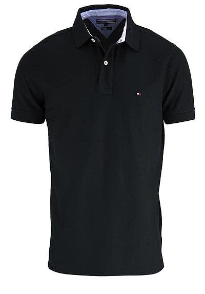 TOMMY HILFIGER Performance Poloshirt Halbarm Slim Fit schwarz - Hemden Meister