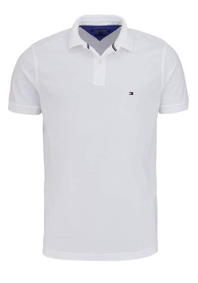 TOMMY HILFIGER Poloshirt Halbarm Polokragen Logo-Detail weiß - Hemden Meister