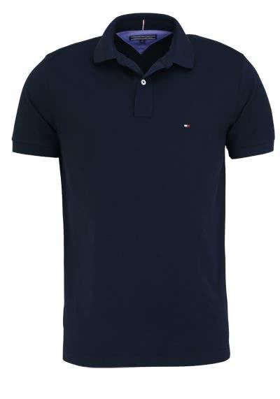 TOMMY HILFIGER Poloshirt Halbarm Polokragen Logo-Detail nachtblau - Hemden Meister