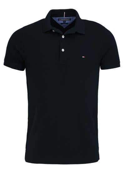 TOMMY HILFIGER Poloshirt Halbarm Polokragen Logo-Detail schwarz - Hemden Meister
