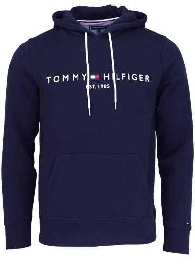 TOMMY HILFIGER Hoodie Langarm mit Kapuze Schriftzug nachtblau - Hemden Meister