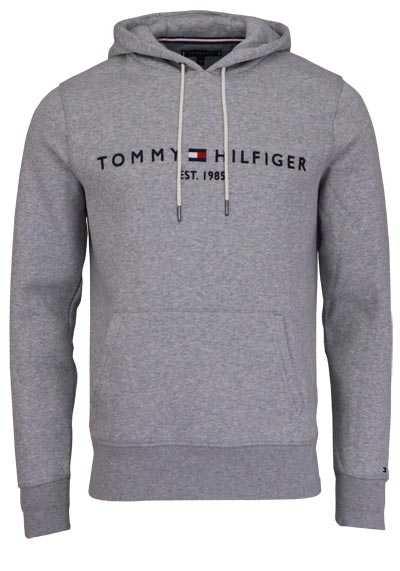 TOMMY HILFIGER Hoodie Langarm mit Kapuze Schriftzug grau - Hemden Meister